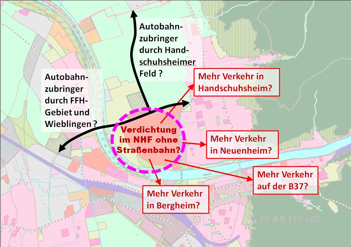 Neuenheimer Feld und angrenzende Stadtteile